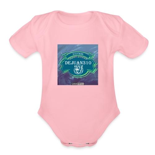 dejuan310 logo - Organic Short Sleeve Baby Bodysuit