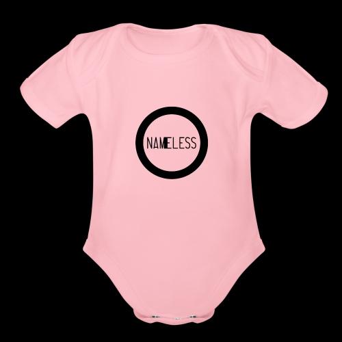 Plain Nameless Logo - Organic Short Sleeve Baby Bodysuit