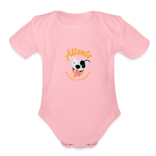 Atlanta Pit Bull Parents logo - Organic Short Sleeve Baby Bodysuit