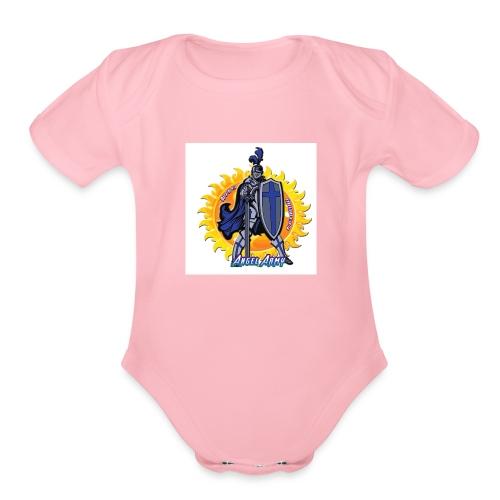 Angel Army - Organic Short Sleeve Baby Bodysuit