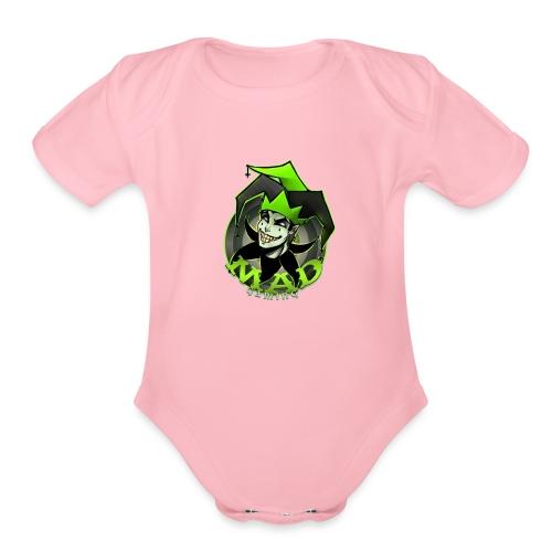 Mad Gaming T-Shirt - Organic Short Sleeve Baby Bodysuit