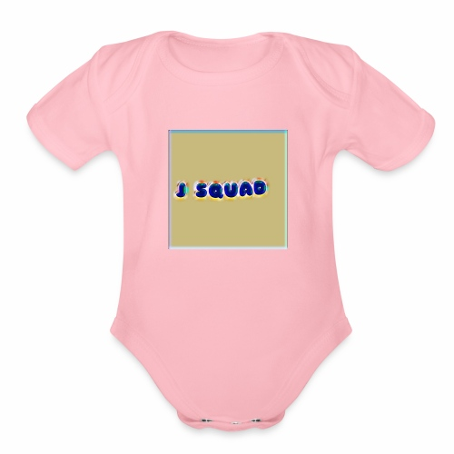 The J SQUAD RAINBOW - Organic Short Sleeve Baby Bodysuit