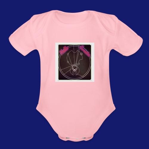 Gallifreyan Sweetie - Organic Short Sleeve Baby Bodysuit