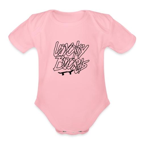 Loyalty Boards Black Font With Board - Organic Short Sleeve Baby Bodysuit