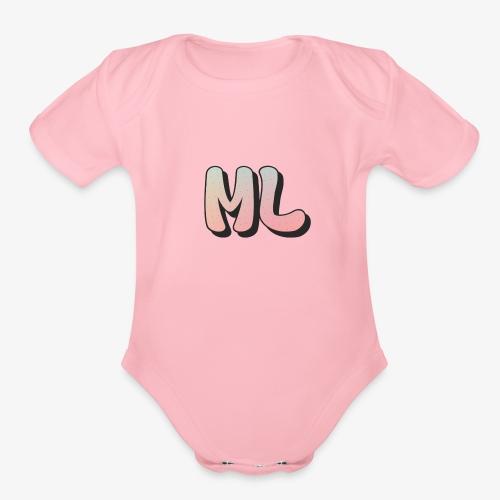 ML dot fade - Organic Short Sleeve Baby Bodysuit