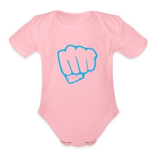 Design 1 - Organic Short Sleeve Baby Bodysuit