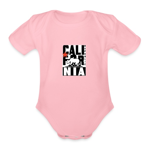 Republic of California - Organic Short Sleeve Baby Bodysuit