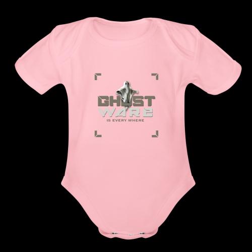 Ghostware Square Logo - Organic Short Sleeve Baby Bodysuit