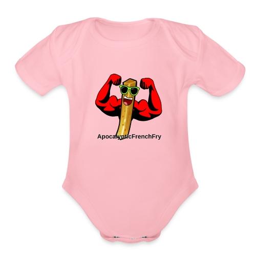 ApocalypticFrenchFry - Organic Short Sleeve Baby Bodysuit