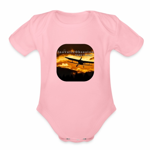 "InovativObsesion ""TAKE FLIGHT"" apparel - Organic Short Sleeve Baby Bodysuit"