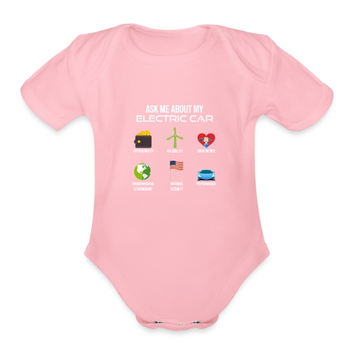 Electric Vehicle Tee Shirt - Organic Short Sleeve Baby Bodysuit