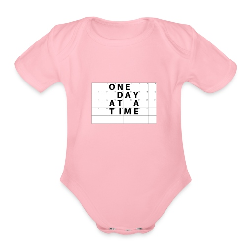 One Day At A Time Inverse - Organic Short Sleeve Baby Bodysuit