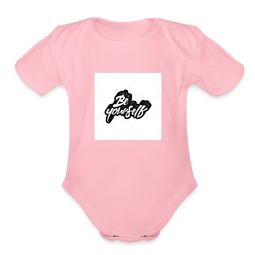 Be yourself - Organic Short Sleeve Baby Bodysuit