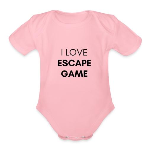 ESCAPE GAME - Organic Short Sleeve Baby Bodysuit