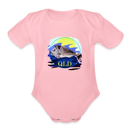 SNAPPER FISHING OFFSHORE AND INSHORE QLD - Organic Short Sleeve Baby Bodysuit