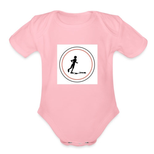 Keep On Running - Organic Short Sleeve Baby Bodysuit