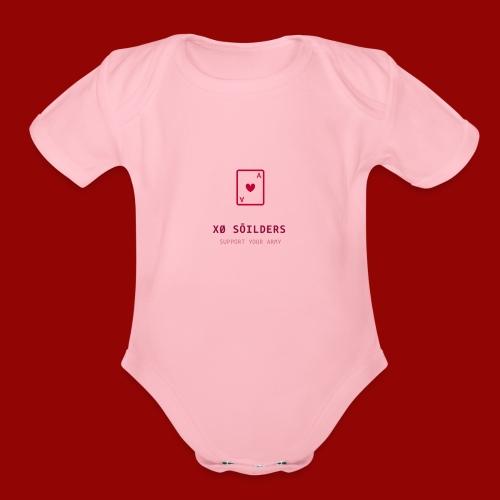 soilder - Organic Short Sleeve Baby Bodysuit