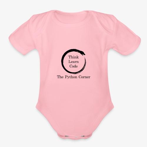 The Python Corner logo - Organic Short Sleeve Baby Bodysuit