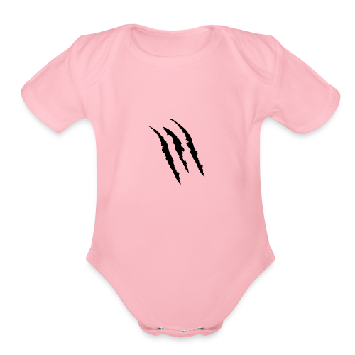 3 claw marks Muscle shirt - Organic Short Sleeve Baby Bodysuit