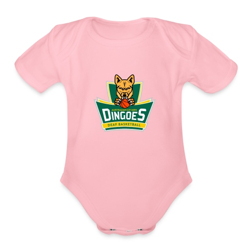 Australian U21 Men Dingoes - Deaf Basketball - Organic Short Sleeve Baby Bodysuit
