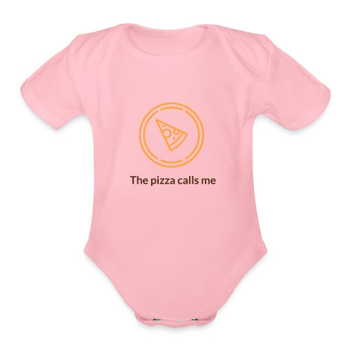pizza lover's - Organic Short Sleeve Baby Bodysuit