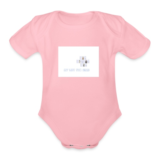 my life the sims - Organic Short Sleeve Baby Bodysuit