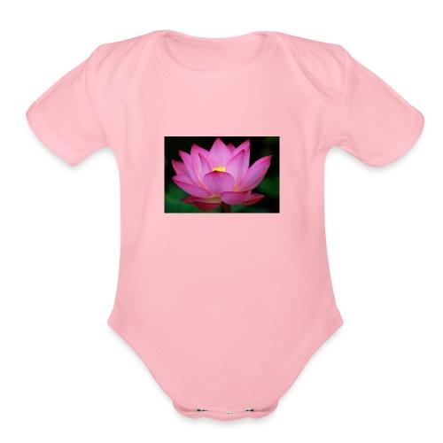 flowers 62 - Organic Short Sleeve Baby Bodysuit
