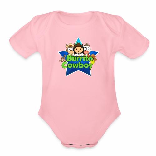 El Burrito Cowboy Star - Organic Short Sleeve Baby Bodysuit
