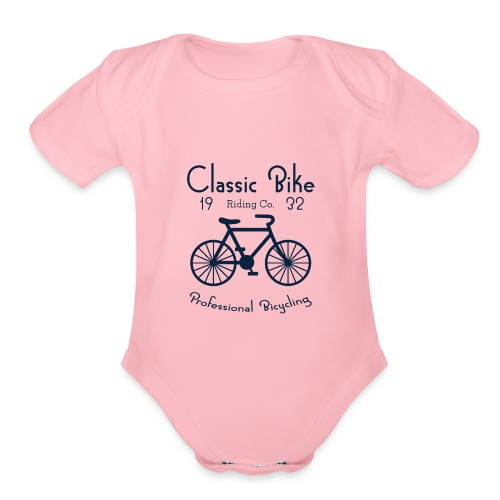 Classic Bike Professional Bicycling - Organic Short Sleeve Baby Bodysuit