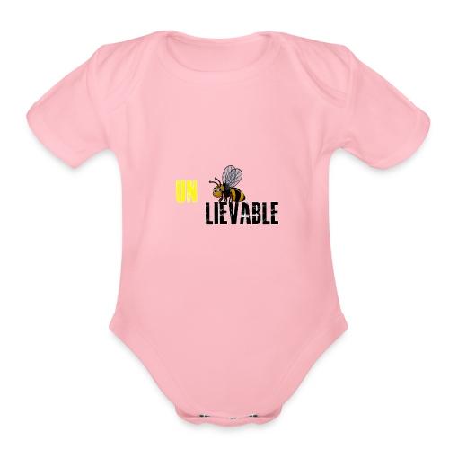 Unbee lievable Bee Design - Organic Short Sleeve Baby Bodysuit