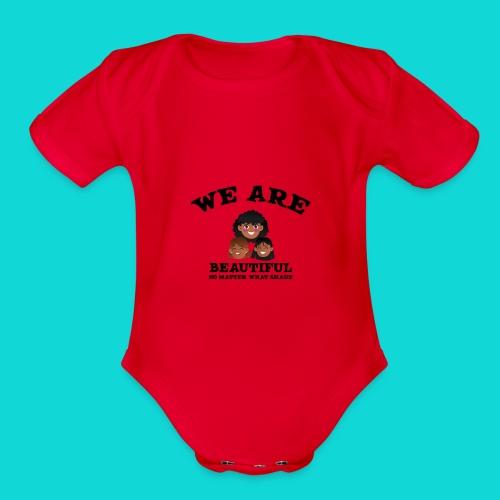 You are Beautiful Black Woman - Organic Short Sleeve Baby Bodysuit