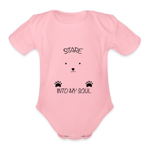 Polar Bear Stare - Organic Short Sleeve Baby Bodysuit