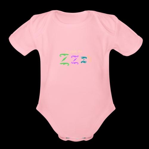 Z s Dark - Organic Short Sleeve Baby Bodysuit