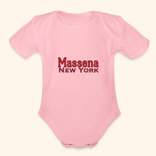 Massena New York - Organic Short Sleeve Baby Bodysuit
