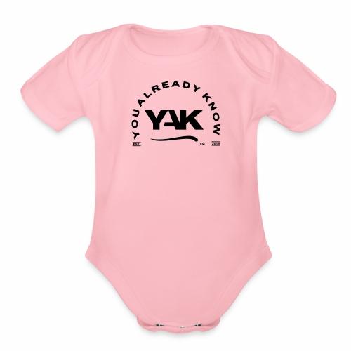 YAK Logos 10 - Organic Short Sleeve Baby Bodysuit