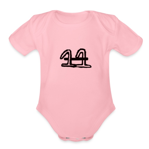 11 crossed - Organic Short Sleeve Baby Bodysuit