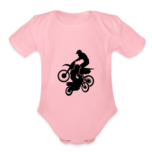 Motocross Dirt Bikes Off-road Motorcycle Racing - Organic Short Sleeve Baby Bodysuit