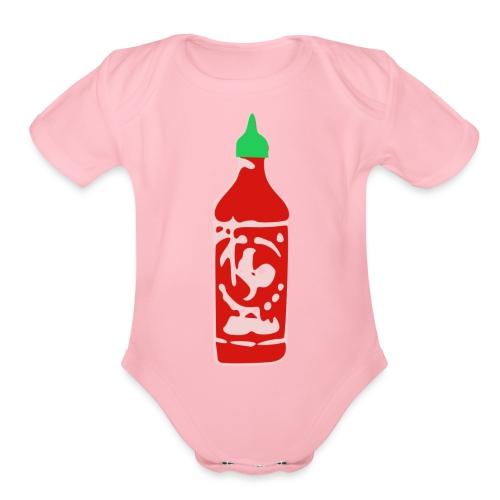 Hot Sauce Bottle - Organic Short Sleeve Baby Bodysuit
