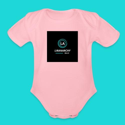 liranarcy 1 - Organic Short Sleeve Baby Bodysuit