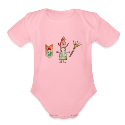 spirit wizard - Organic Short Sleeve Baby Bodysuit