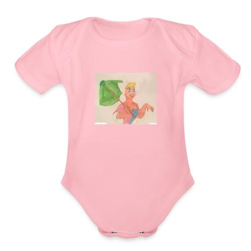 A Princess - Organic Short Sleeve Baby Bodysuit