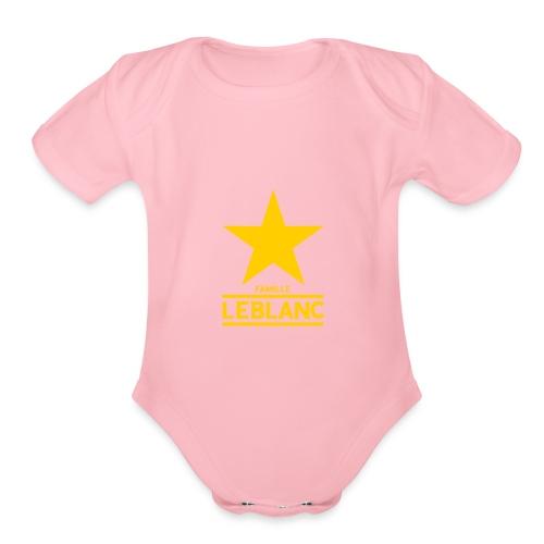 The White - Organic Short Sleeve Baby Bodysuit