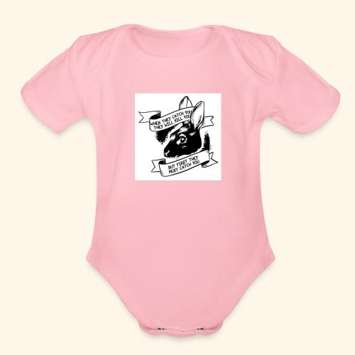 Elusive Rabbit - Organic Short Sleeve Baby Bodysuit