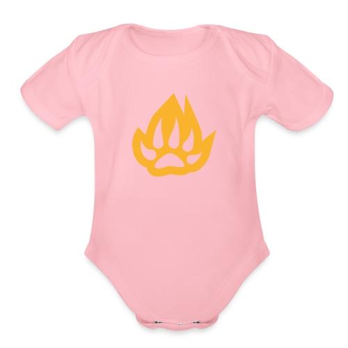 paw T-shirts - Organic Short Sleeve Baby Bodysuit