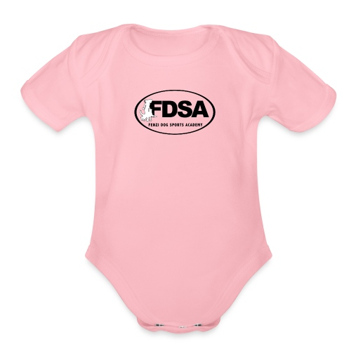 FDSA BLACKWHITE LOGO 2018 - Organic Short Sleeve Baby Bodysuit