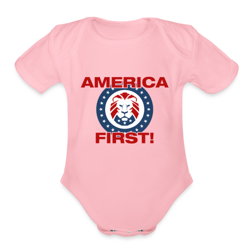 America First Lion - Organic Short Sleeve Baby Bodysuit