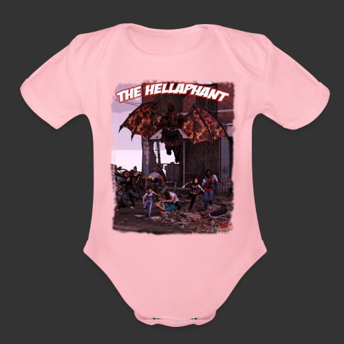 The Hellaphant Full Scene - Organic Short Sleeve Baby Bodysuit