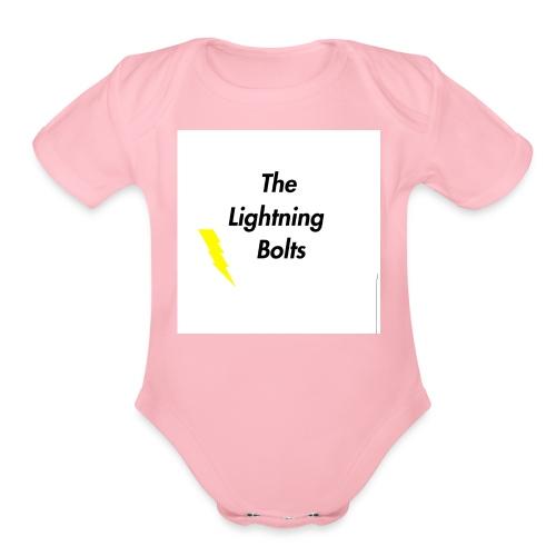 The Lightning Bolts - Organic Short Sleeve Baby Bodysuit