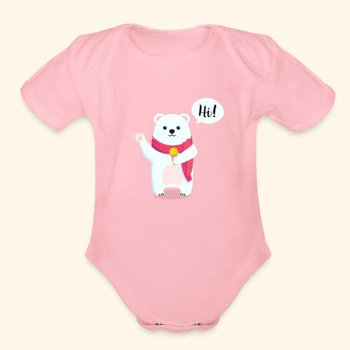 Adorable Bear - Organic Short Sleeve Baby Bodysuit