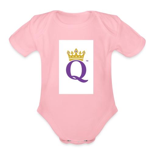 QUEEN CASE - Organic Short Sleeve Baby Bodysuit